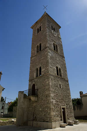 Bell tower in the city Nin, Croatia