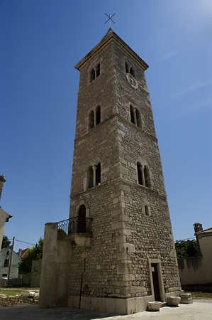 Bell tower in the city Nin, Croatia