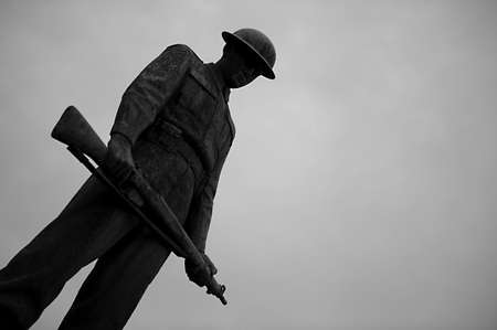 The english soldier, statue Stock Photo