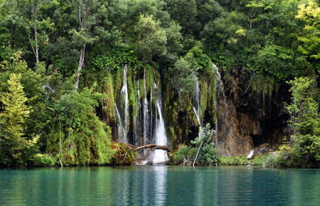 Plitvice Lakes National Park, Croatia. County of Lika-Senj, 10km east of Bihac, Croatia. The park is registered on the UNESCO list of the  Worlds natural inheritance. The beauty of the area is undescrible.