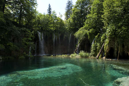 roatia, Plitvice lakes national park.This waterfall is called Viliki Slap, slap being the Croatien word for waterfall. The hight is 78 meters witch makes it the highest waterfall in Croatia. The waters flowing over the limestone and chalk have, over thous