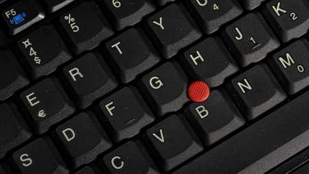Macro of black keyboard