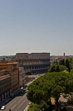 Street view of the Colloseum in Rome, Italy Stock Photo