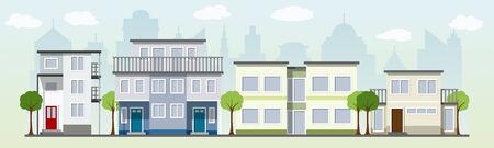 houses: modern houses Illustration