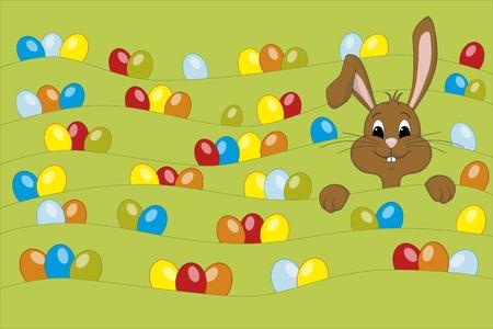 Funny Bunny - Happy Easter 일러스트