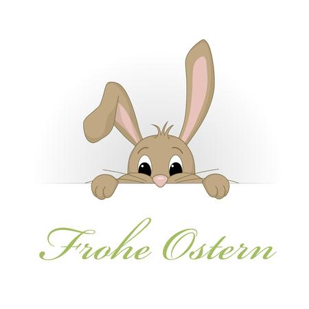 rabbit hole: Funny Bunny - Happy Easter Illustration