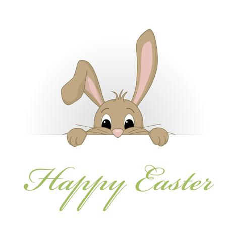 Funny Bunny - Happy Easter Stock Illustratie