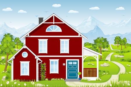 Red Cottage Ilustração