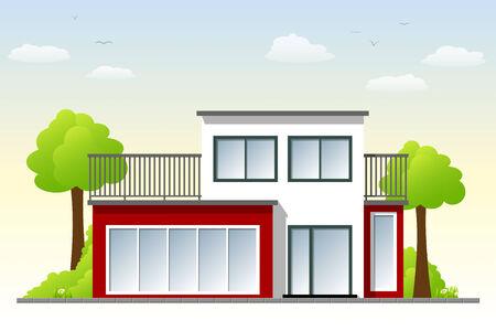 modern architecture: Modern Architecture Illustration