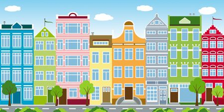 stilts: Colorful houses of a city