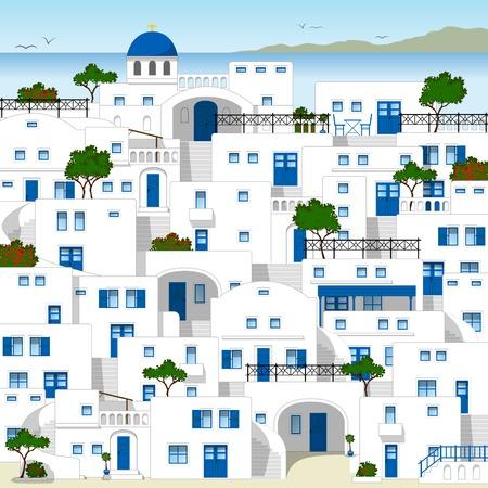 decorative balconies: Traditional Greek houses