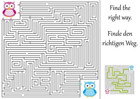 maze game: Find the right way through the maze