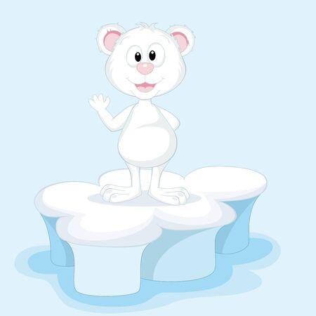 submission: Funny polar bear on an ice floe