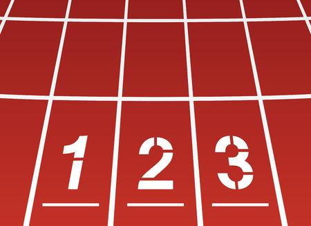 running track: Begin gebied van ?? een atletiekbaan