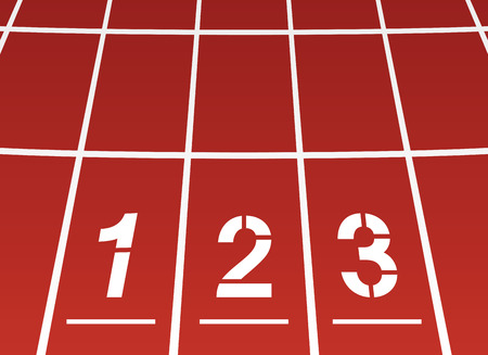 running track: Start area of ??a running track Illustration