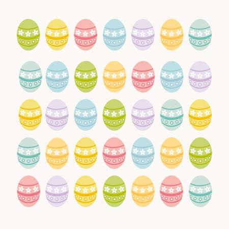 pentecost: Colorful Easter eggs Illustration