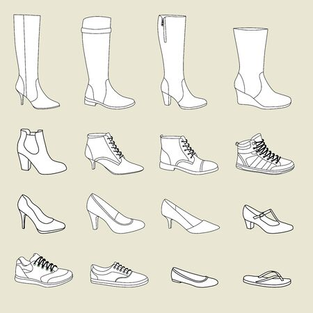 women s clothes: Women's shoes Illustration