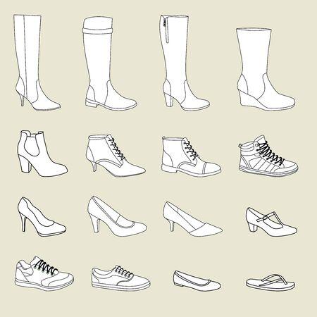 women   s clothes: Women's shoes Illustration