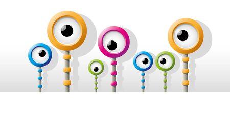 funny robot: Funny colorful robot eye