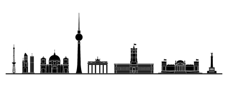 Berlin skyline Vector Illustration