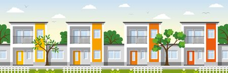 townhouses: Modern townhouses in the suburbs