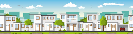 ie: Modern white houses, ie usable as a continuous background Illustration
