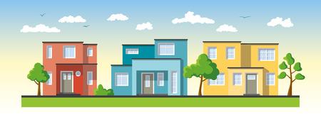 case colorate: Tre case colorate moderne
