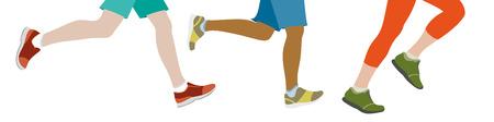 lllustration: Some People jogging