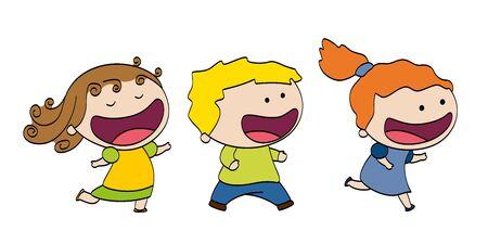 hair bow: Little sweet dancing girl Illustration