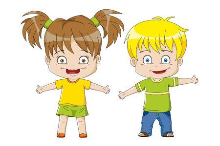 humane: Two nice kids Illustration