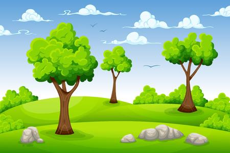 Cartoon summer landscape Banco de Imagens - 52886904