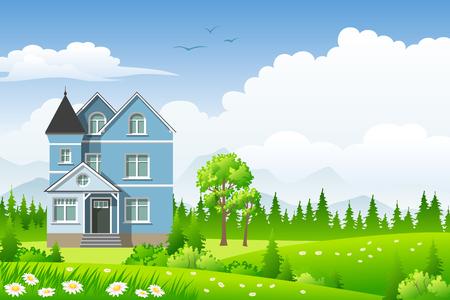 urbane: Classic House in summer Landscape
