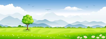 Panoramisch zomer landschap