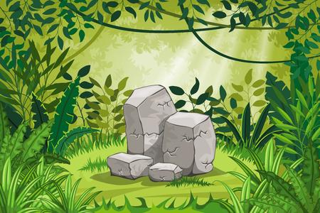 石図ジャングルの風景