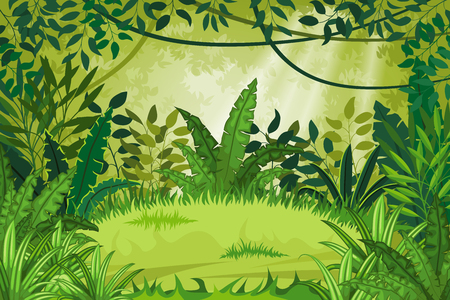 Illustratie jungle landschap