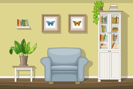 Illustratie van een klassiek salon Vector Illustratie