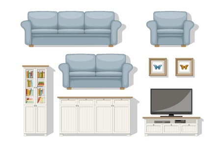 living room furniture: Set of classical living room furniture
