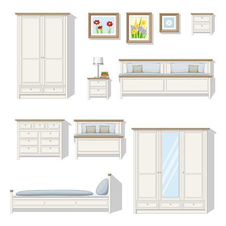 bedroom furniture: Set of classical bedroom furniture
