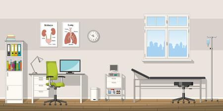 Ilustración de una oficina del doctor
