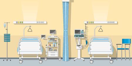 Ilustración de la unidad de cuidados intensivos