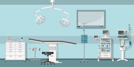 Illustration of a operating room Stock Illustratie