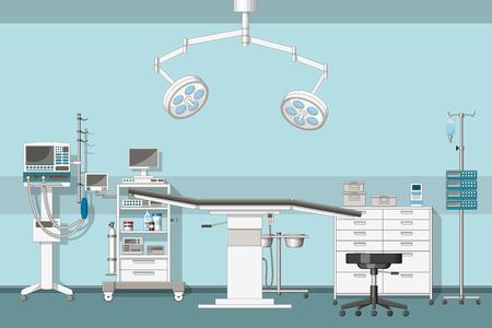 Illustration of a operating room Vettoriali