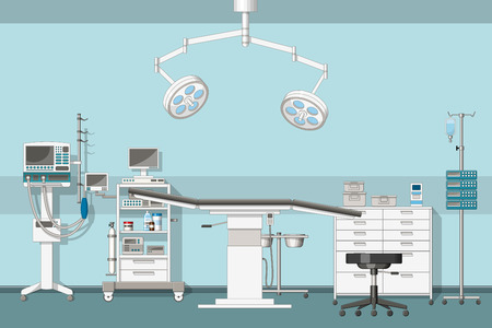 Illustration of a operating room Vectores
