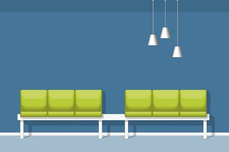 waiting room: Illustration of a waiting room with chair