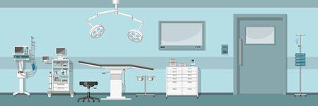Illustratie van een operatiekamer Stock Illustratie