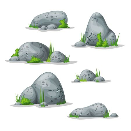rock stone: Set with different stones