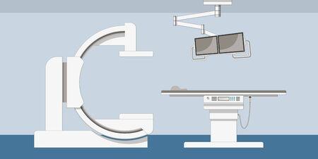 Illustration of a modern X-ray machine