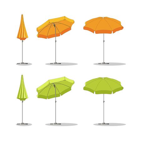sunshades: Set of different sunshades