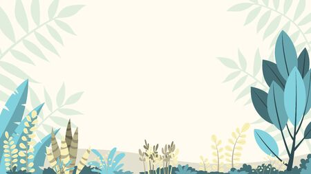 Flat nature background with copy space for text, for banner, greeting card, poster and advertising Illusztráció