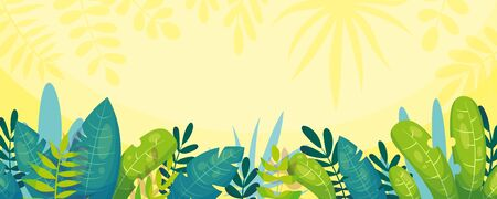 Nature jungle background. Vector illustration with separate layers.